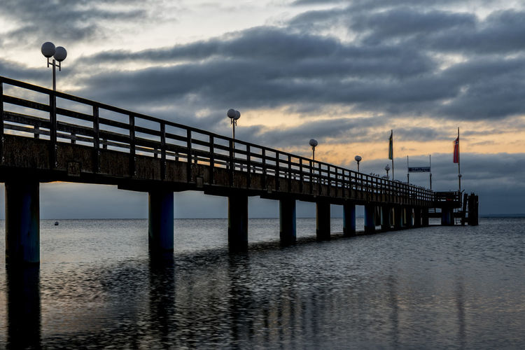 sea bridge early morning Architecture At Half Past Three In The Sunday Morning Beauty In Nature Bridge - Man Made Structure Built Structure Cloud - Sky Day Horizon Over Water Lübecker Bucht Nature No People Outdoors Scenics Sea Sea Bridge Sky Sunset Tranquility Water