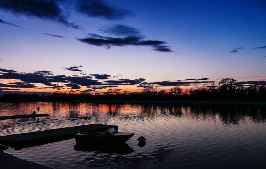 After sunset Water Sky Sunset Cloud - Sky Silhouette Lake EyeEmNewHere Tranquility Rowing Channel Plovdiv Bulgaria