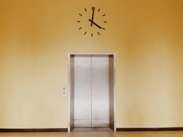 Clock Elevator Wall Interior