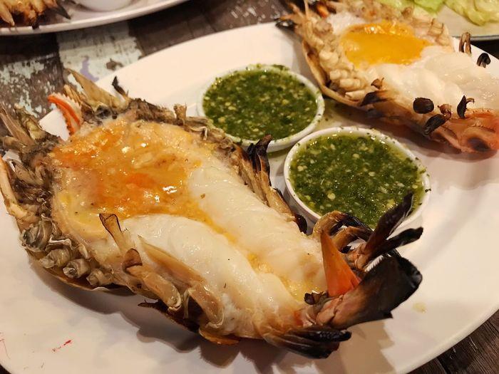 Grilled prawns Seefood