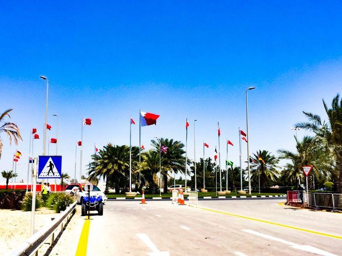 Flags Flags In The Wind  Bahrain Bahrain International Circuit Bahrain Tourism