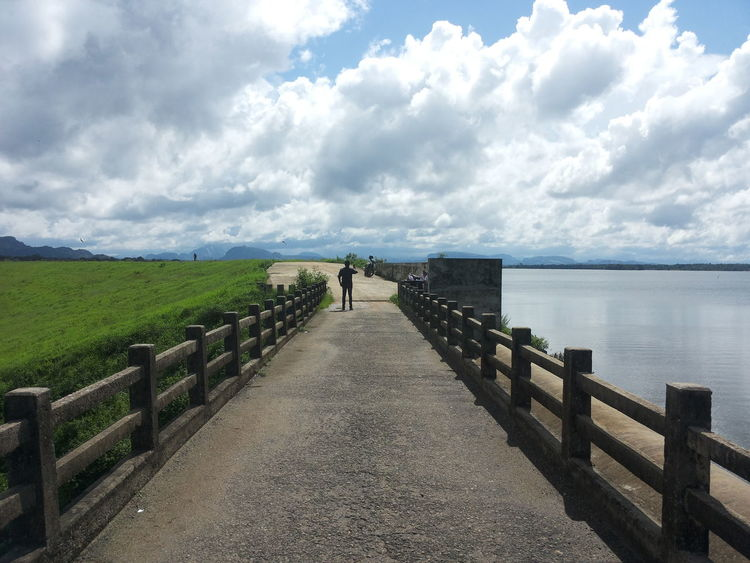 Lake view Beauty In Nature Boardwalk Cloud Cloud - Sky Cloudy Day Diminishing Perspective Horizon Over Water Idyllic Landscape Long Narrow Nature Outdoors Overcast Pier Scenics Sky The Way Forward Tranquil Scene Tranquility Vanishing Point Walkway Water Weather