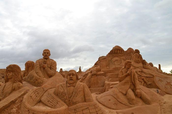 Sculpture Sand Sculptures No People Art Sand Imagination Sand Sculpture Park Sand Sculpture