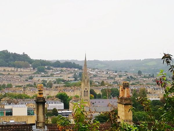 Cityscape No People Outdoors Day City Sky Chimneys Church Spire Cloudy Day City Of Bath