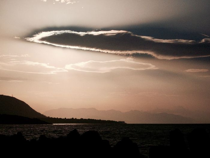 Cefalù, Sicily Beauty In Nature Cloud - Sky Day Evening Sky Horizon Over Water Mountain Nature No People Outdoors Scenics Sea Silhouette Sky Sundown Sunset Tranquil Scene Tranquility Water Sommergefühle
