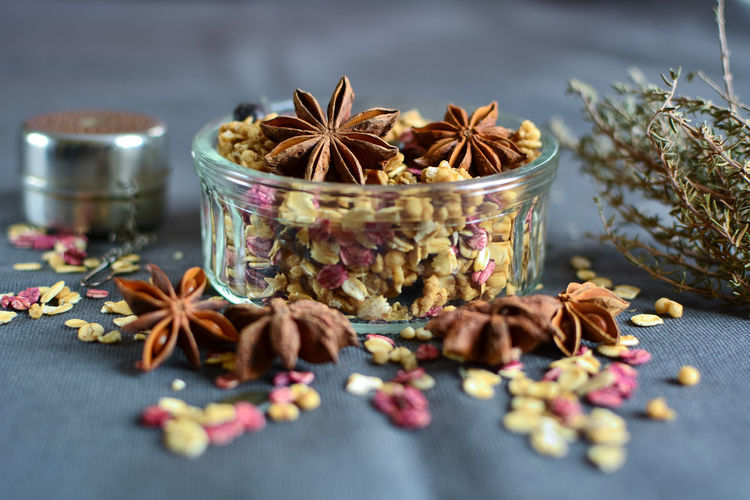 Food Foodphotography Composition Muesli Anise Star Anise Spice Dried Food Close-up