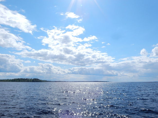 Beauty In Nature Blue Calm Cloud Cloud - Sky Day Horizon Over Water Nature No People Ocean Outdoors Scenics Sea Seascape Sky Sunbeam Water Waterfront