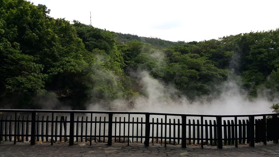 Hot Spring Thermal Valley Heat Steam Outdoors Water Nature Sky No People Beauty In Nature Travel Desinations Travel Destinations Outdoors Relaxation Green Color Landscape