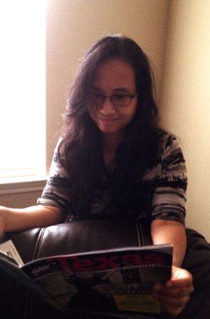 Reading Reading A Magazine Texas San Antonio Glassesgirl