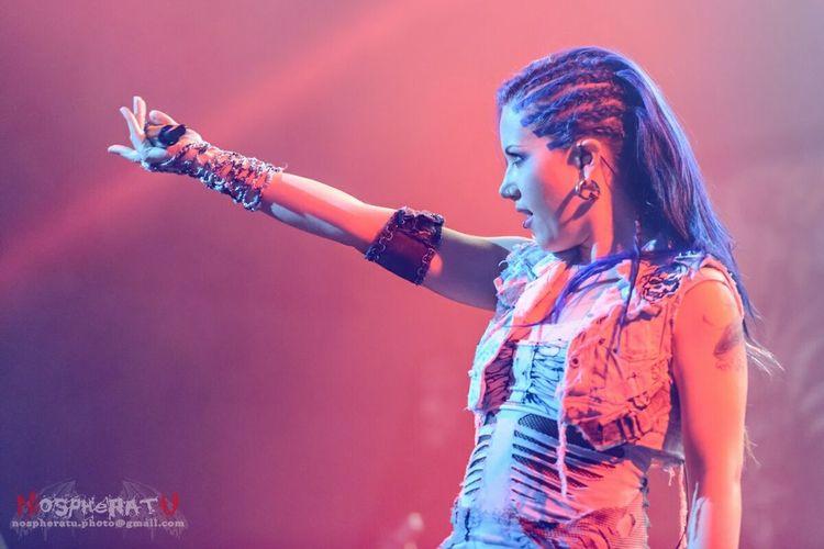 Alissa White-Gluz at Tele-Club, Yekaterinburg @3.10.2014 Concert Arch Enemy Tele-club