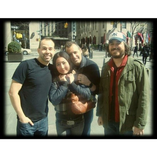 Still can't believe I bumped into @joe_gatto @bqquinn and @therealmurr (No Mr. Ja'Crispy though) while doing some shopping earlier today, never thought I'd meet them in this way! I have to say I am so damn lucky! Thanks guys for taking some time for me, after meeting you guys in person I'm in love with this show on @trutvofficial more than ever, you guys are awesome!! --アメリカの人気テレビ番組、インプラクティカル・ジョーカーズのメンバーに遭遇!この番組は毎年必ず更新されている程で、私も最初からずっと観ている一人。こんな形でフラフラ買い物中に出会えるなんて思ってもいなかったから感激!すーーっごいナイスガイズだったから、更にこの番組が好きになった。今年運使い果たしたかなww -- Love ImpracticalJokers Trutv Jokers thetenderloinscomedytroupe entertainment photooftheday me instamood picoftheday awesome instagramers follow smile photo life fun cool portrait nyc sunnyday tagsforlikes happy instadaily amazing bestoftheday instalike