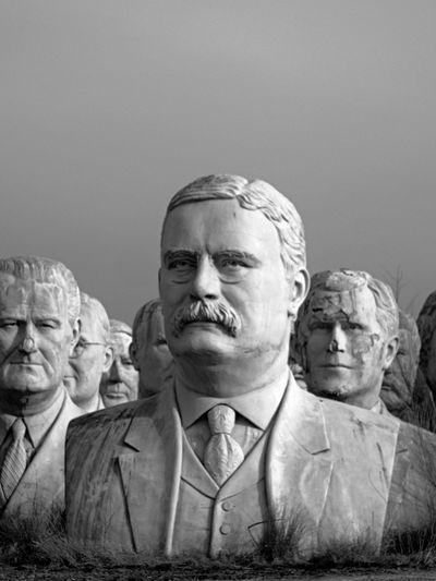 Portrait of statue of man