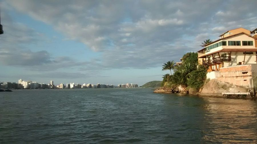 Mountains Stones Sky And Clouds Boats Sea Waves Cityscapes Beach Dreaming Guarapari