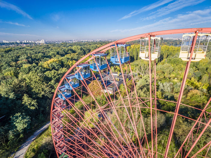 High Angle View Of Ferris Wheel In Park
