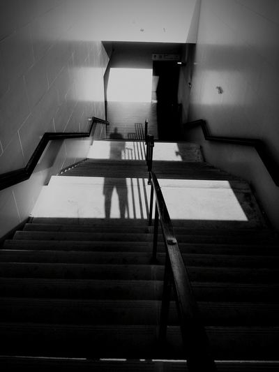 the downward stairs Blackandwhite Self Portrait Im In Heaven