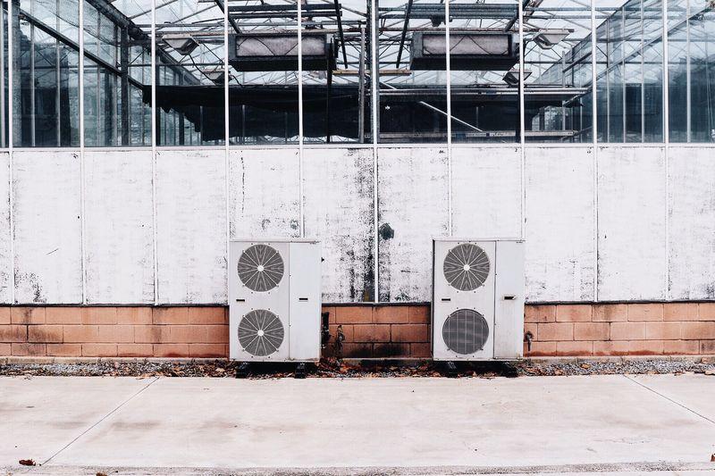 Ventilators outside building