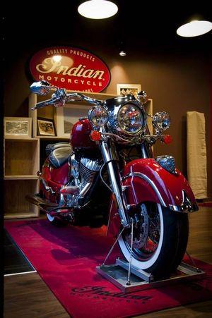 Lyon : Salon du 2 Roues Stand Indian Motocycle