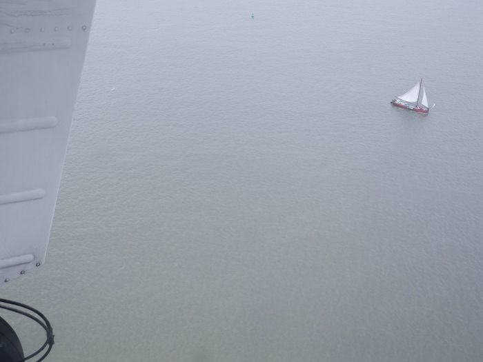 Boat EyeEm Gallery Flying High From The Plane Window No People Sailing Sea Water