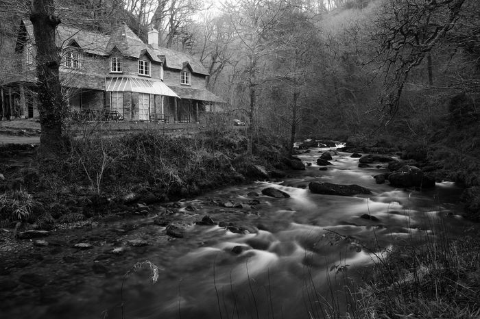 Architecture Check This Out Devon EyeEm Best Shots EyeEmNewHere Nature Taking Photos Tranquility Watersmeet Beauty In Nature Blackandwhite Building Exterior Built Structure Day Forest Idyllic Landscape Monochrome Nature_collection No People Outdoors River Scenics Tranquil Scene Water