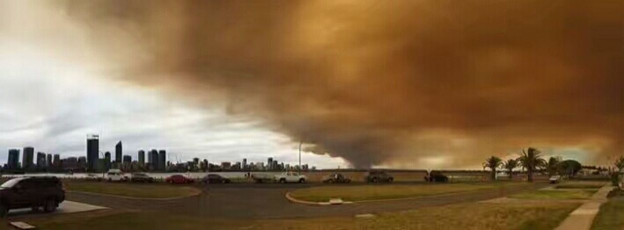 Bush fire sky. Perth western Australia. Stories From The City