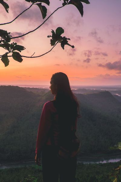 Standing alone Sunset One Person Silhouette Only Women One Woman Only Women Beauty Young Adult Nature Landscape Portrait Young Women Photographing Photo Of The Day Outdoors Mountain Yogyakarta EyeEmNewHere Yogyakarta,indonesia Morning LightRoomEdit Freshness The Great Outdoors - 2017 EyeEm Awards Landscapephotography Beauty In Nature