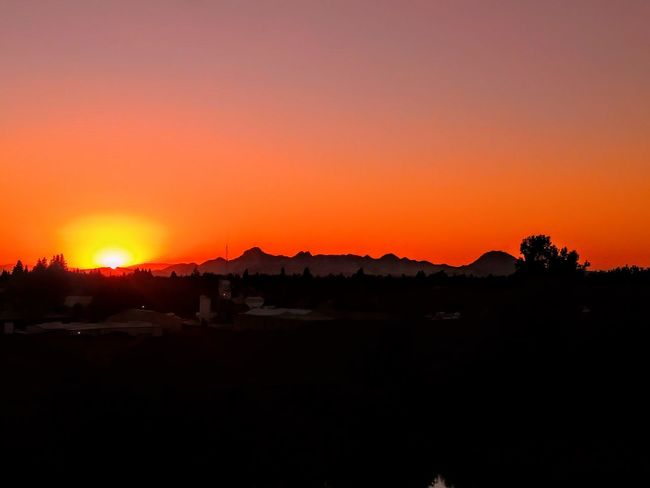 Sutterbuttes Sunset Orange Color Silhouette Nature No People Outdoors Beauty In Nature Northern California Cloud - Sky Mountain Sky Silhouette Keep Faith New Beginnings