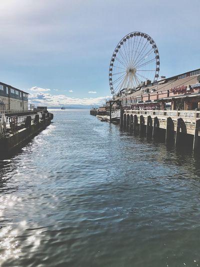 Seattle Seattle Great Wheel Ferris Wheel Waterfront EyeEmNewHere IPhoneography
