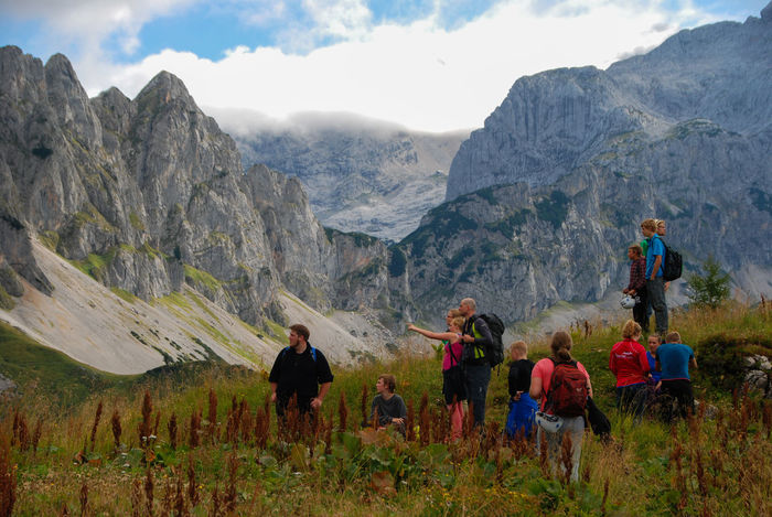 First day in the mountains Austria Connected By Travel Youth Adventure Alps Alps Austria Beauty In Nature First Impression Hiking Landscape Leisure Activity Mountain Mountain Range Nature Outdoors Real People Scenics Sky Togetherness Travel