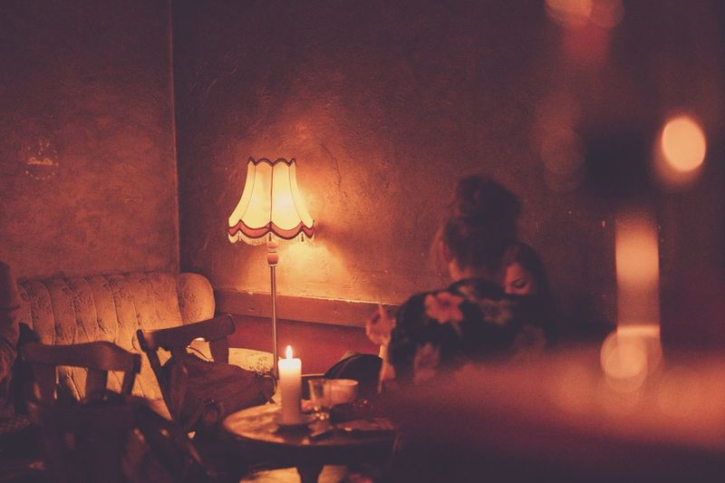 Girls Chilling Relaxing Canon Candle Wine Vintage Style Bar EyeEm Best Shots Eye4photography