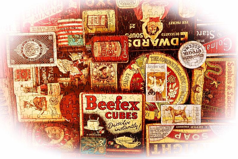 Jigsaw ... Vintage Old Brands Jigsaw  Jigsaw Puzzle No People Indoors  Close-up Number Full Frame Pattern Still Life