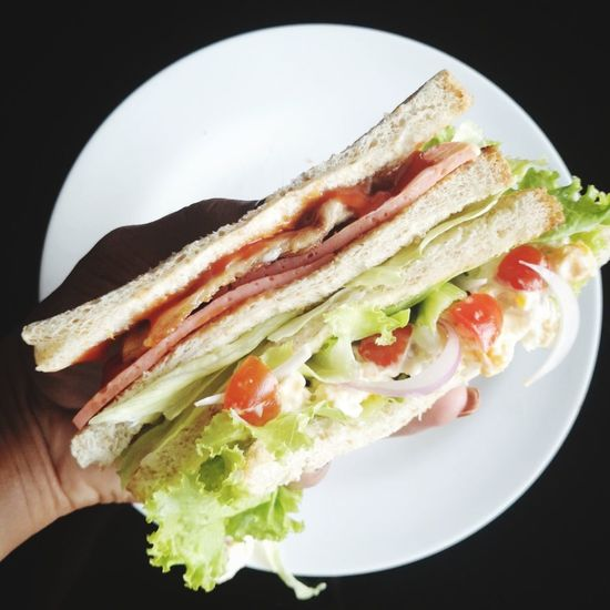 Exciting monday 三明治 Toasted Bread Sandwich Bacon Bread Egg Yolk Whole Wheat Lettuce Breakfast Wholegrain SLICE