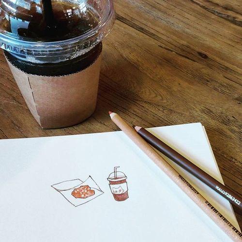 . 나는 한참을 서서 가만히 머금은 채로 그 대 로 Drawing Photo Coffee 푸르던
