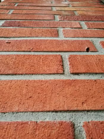 Pattern Full Frame Brick Wall Textured  Backgrounds No People Close-up