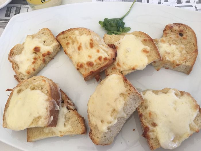 Close-up of bread with cheese