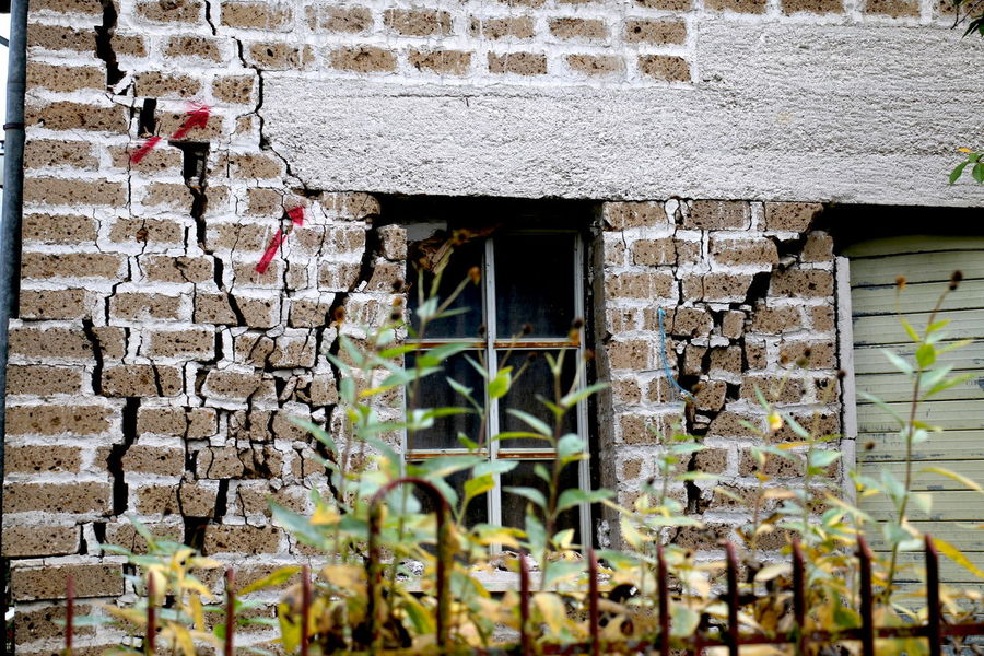 Architecture Brick Wall Building Exterior Built Structure Day Ivy Nature No People Norcia Norcia 2016 Outdoors Plant Terremoto Terremoto 2016 Umbria, Italy Umbrian Landscape