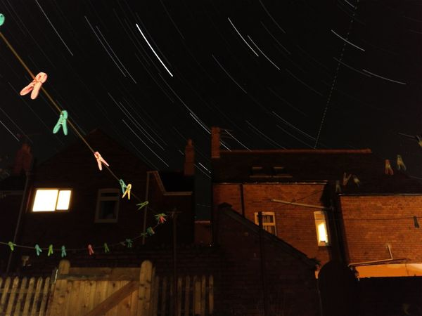 Architecture Building Exterior Night Outdoors Sky Star Track Colours And Patterns Night Illuminated House High Section Built Structure Building Exterior Capturing Motion