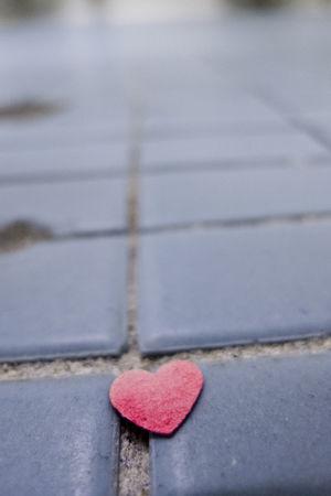 Heart on the floor Bathroom Floor Close-up Floor Heart Shape Love Low Angle View No People Red Tile Tiled Floor