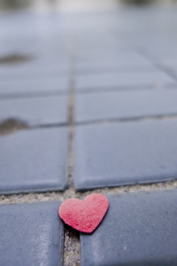 Heart on the floor Bathroom Floor Close-up Floor Heart Shape Love Low Angle View No People Red Tile Tiled Floor