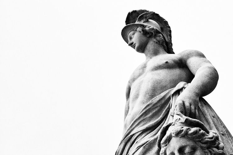 Perseus Greek Statue Sculpture Statue Low Angle View