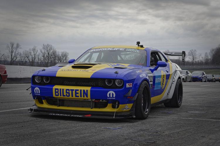 The 2019 Widebody Hellcat Under Wraps Hellcat Car Racing Chrysler FCA Gridlife Mid-Ohio Raceway Park Challenger First Eyeem Photo