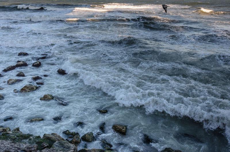 Beauty In Nature Black Sea Coastline Cold Day Nature Outdoors Rocks Sea Sea Shore Seascape Water Wave Winter