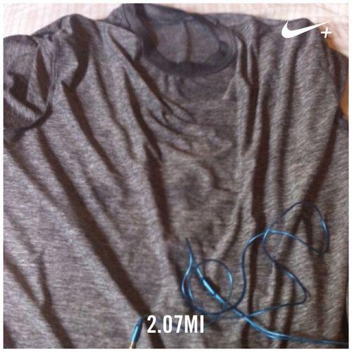 Sweaty shirt after running 5k Journey