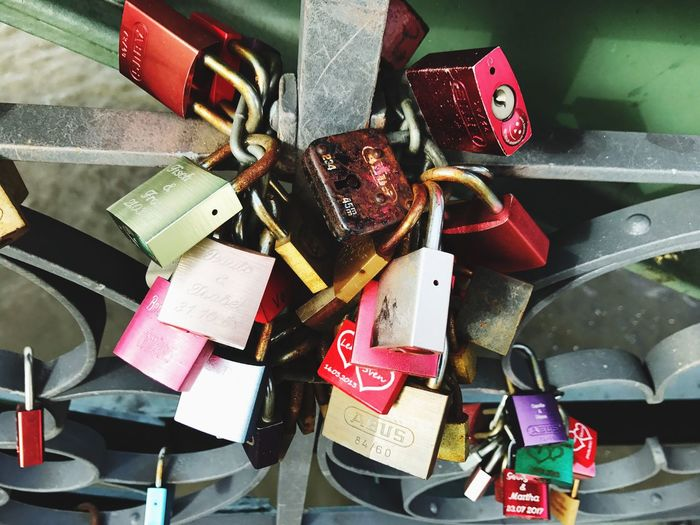 Padlock Lock Metal Love Lock Large Group Of Objects Security Safety Protection No People Love Abundance Hope Variation Close-up Day Luck Hanging Outdoors