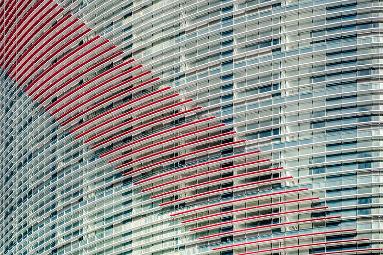 Built Structure Pattern Architecture Building Exterior Full Frame No People Backgrounds Day Low Angle View Building Metal Outdoors Window Wall - Building Feature City Red Nature Close-up Modern Glass - Material Lines The Architect - 2019 EyeEm Awards