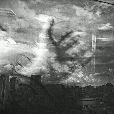 Agaz Tahsin Kazi Cloud Melancholy Doubleexposure Lomo Instadhaka Photooftheday Black White Bnw Bangladesh Monsoon Hand Touchthesky Prayers Insomnia Insomniac