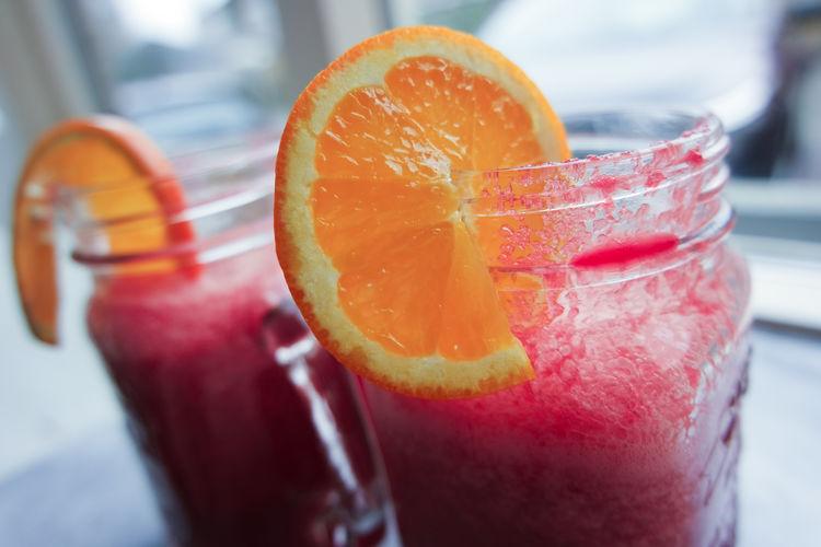 Detail shot of drinks