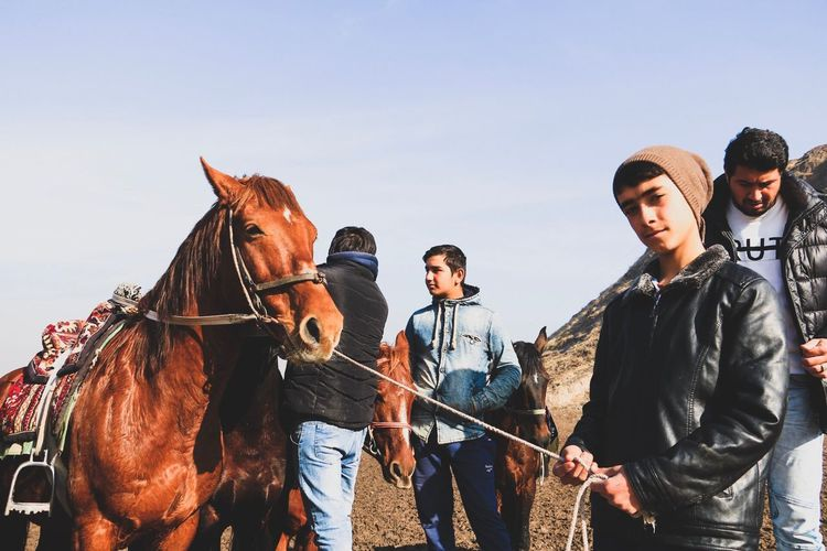 Finding New Frontiers Nature Moment Traveling Travel Outdoors People Portrait Color Portrait Horse Hisor, Tajikistan.