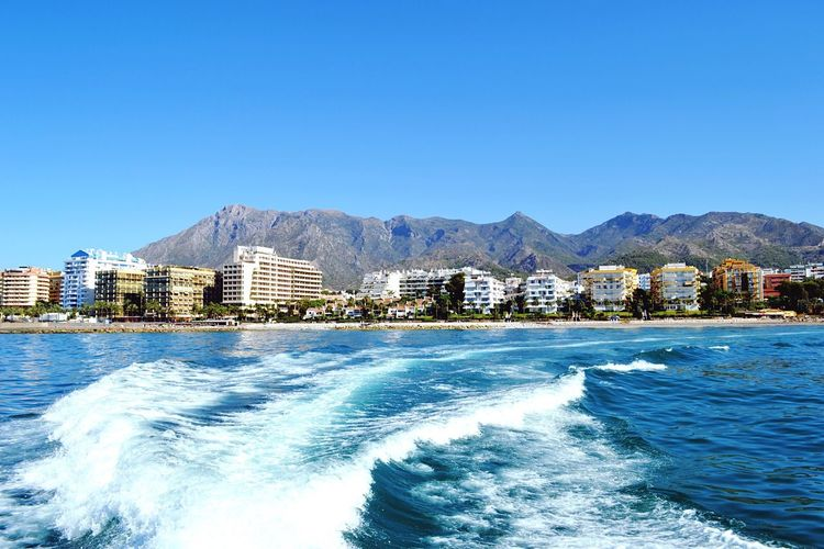 Sea And Sky Sea_collection Mountain View Marbella Bluesea Sea View Boat Ride Mountains And Sky Mountainview