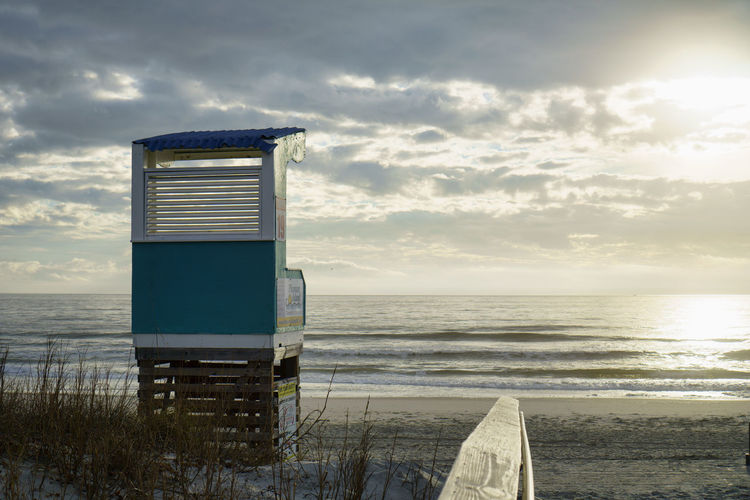 Pathway to Paradise Architecture Blue Carolina Beach, NC Cloud - Sky Horizon Over Water Lifeguard Hut Lifeguard Tower No People Pathway To Heaven Pathway To The Sea Sea Water