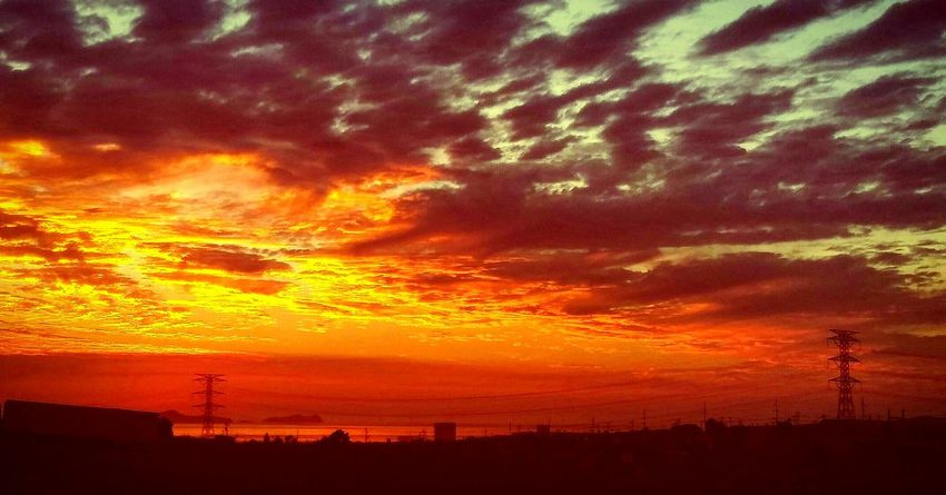 Sunset Silhouette Sky Landscape Cluds Sun Light Light And Shadow View Clouds Collection Cloudsporn Sunset_collection
